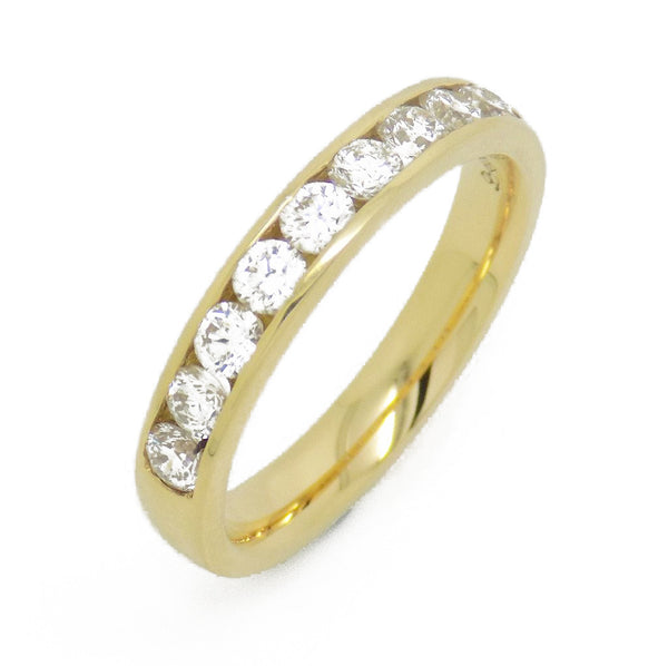 18ct Yellow Gold Nine Diamond Channel Set Eternity Ring