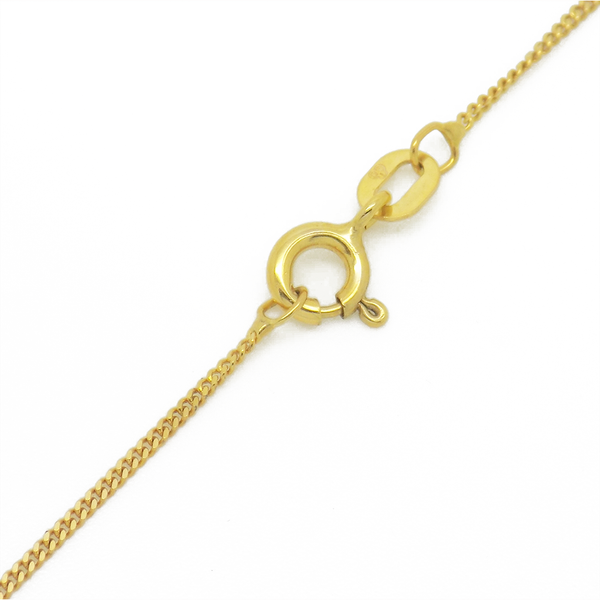 9ct Yellow Gold Cubic Zirconia Oval Locket Pendant & Chain Pendant