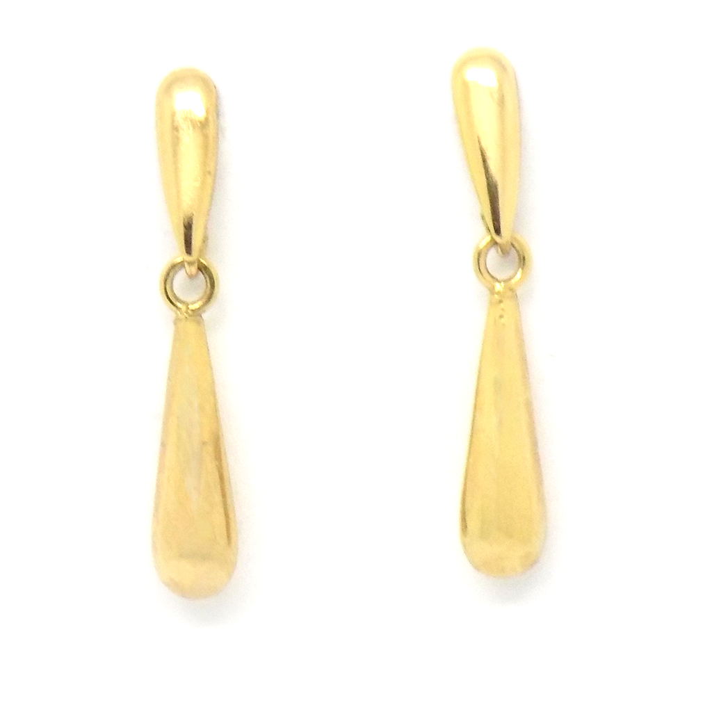 9ct Yellow Gold 'Bomb' Drop Stud Earrings