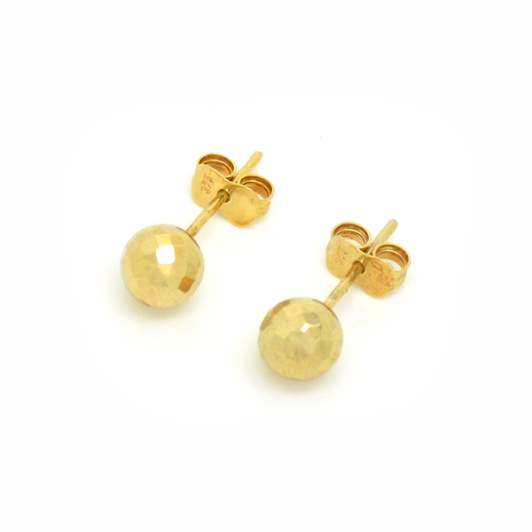 9ct Yellow Gold 'Disco Ball' Stud Earrings