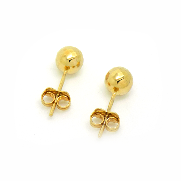 9ct Yellow Gold 'Disco Ball' Stud Earrings - Fastenings