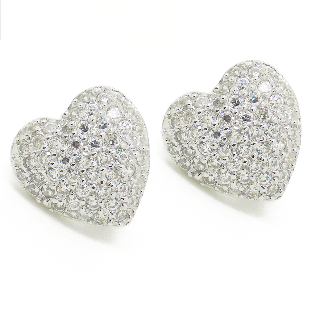 silver products heart earrings love original sterling shaped stud collections