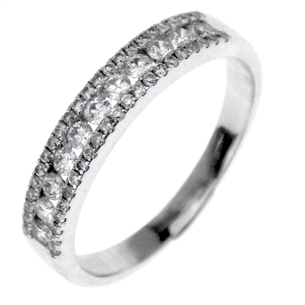 Pre-Loved 18ct White Gold Diamond Half Eternity Ring