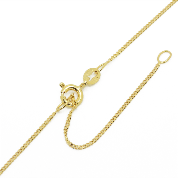 9ct Yellow Gold White Teardrop & Button Shape Freshwater Pearl Pendant & Chain - Fastening Detail