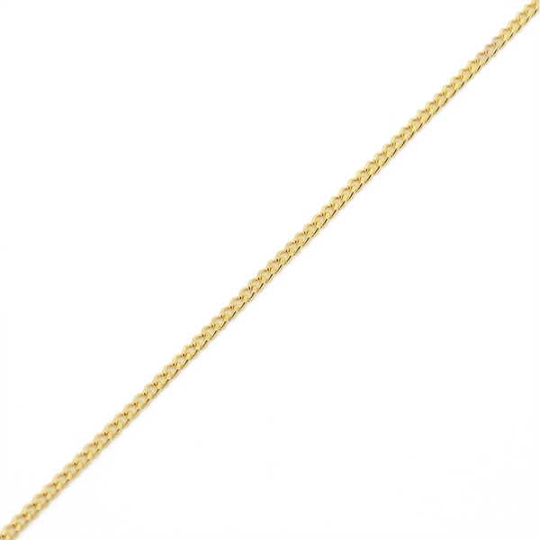 9ct Yellow Gold White Teardrop & Button Shape Freshwater Pearl Pendant & Chain - Chain Detail