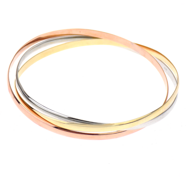 Pre-Loved 9ct White, Rose & Yellow Gold Russian Wedding Bangle