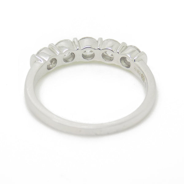 18ct White Gold Five Stone Diamond Eternity Ring Mount Detail