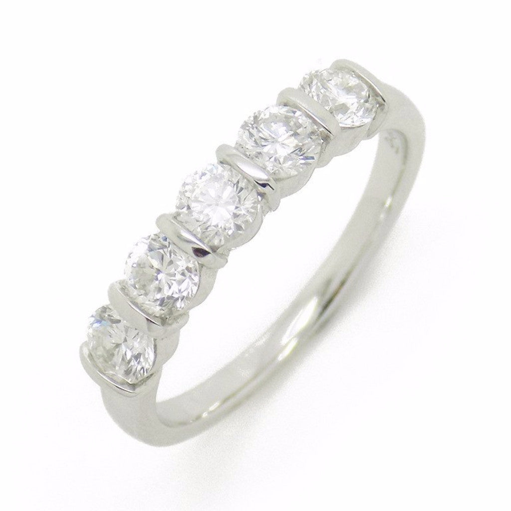 18ct White Gold Five Stone Diamond Eternity Ring