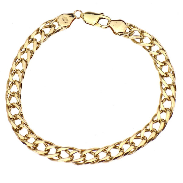 Pre-Loved 9ct Yellow Gold Double Link Curb Bracelet