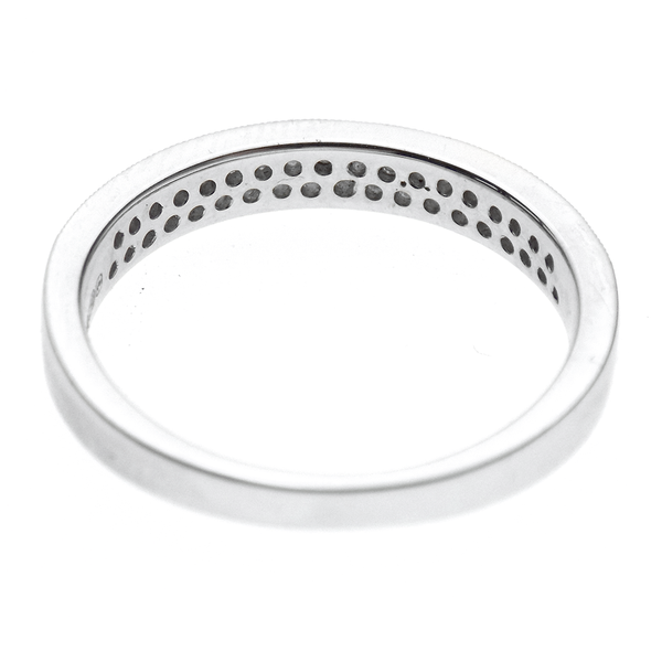 18ct White Gold Two Row Diamond Eternity Ring Reverse