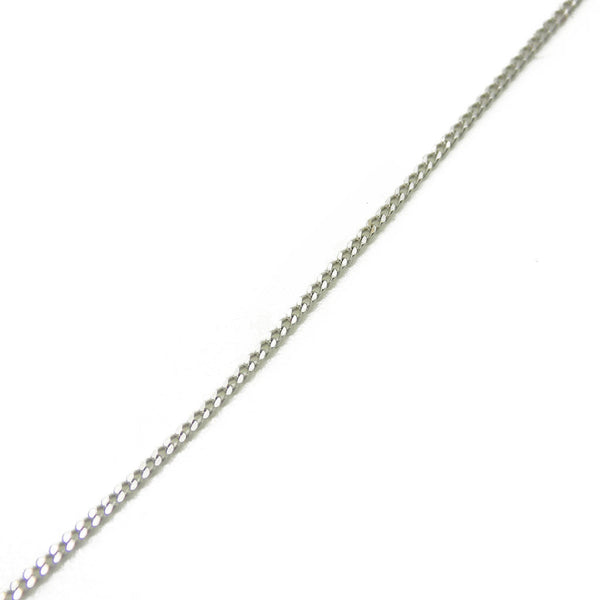 "18ct White Gold 18"" Fine Curb Chain"