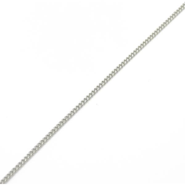 "18ct White Gold 16"" Fine Curb Chain"