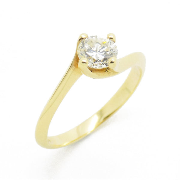 re-Loved 18ct Yellow Gold Single Stone Diamond Twist Ring