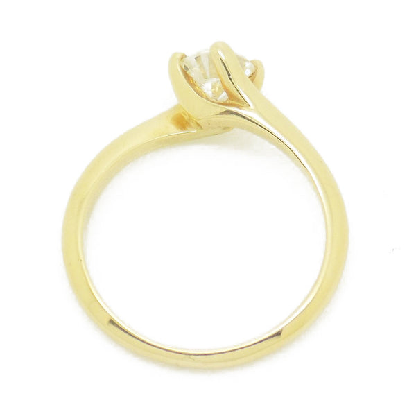 re-Loved 18ct Yellow Gold Single Stone Diamond Twist Ring Mount Details