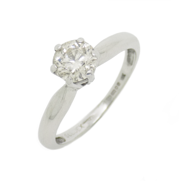 Pre-Loved 18ct White Gold Single Stone .50ct Diamond Ring