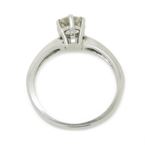 Pre-Loved 18ct White Gold Single Stone .50ct Diamond Ring - Setting Detail