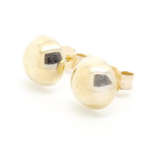 9ct Yellow Gold D-Profile Stud Earrings