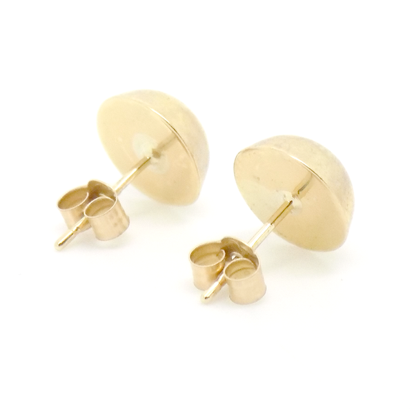 9ct Yellow Gold 8mm D-Profile Stud Earrings Back
