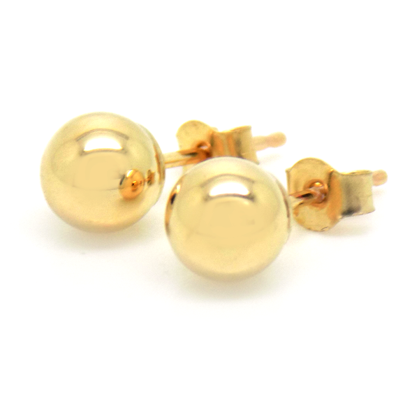 9ct Yellow Gold 5mm Ball Stud Earrings