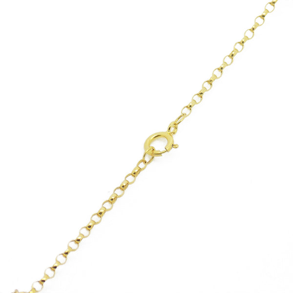 9ct Yellow Gold Freshwater Pearl Necklace Fastening Detail