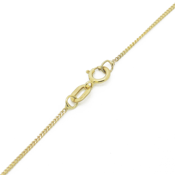 9ct Yellow Gold Teardrop Freshwater Pearl Pendant & Chain Fastening