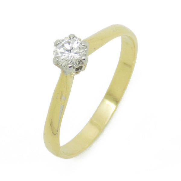 Pre-Loved 18ct Yellow Gold Single Diamond Ring