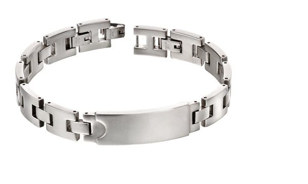 'Fred Bennett' Stainless Steel Section ID Bracelet