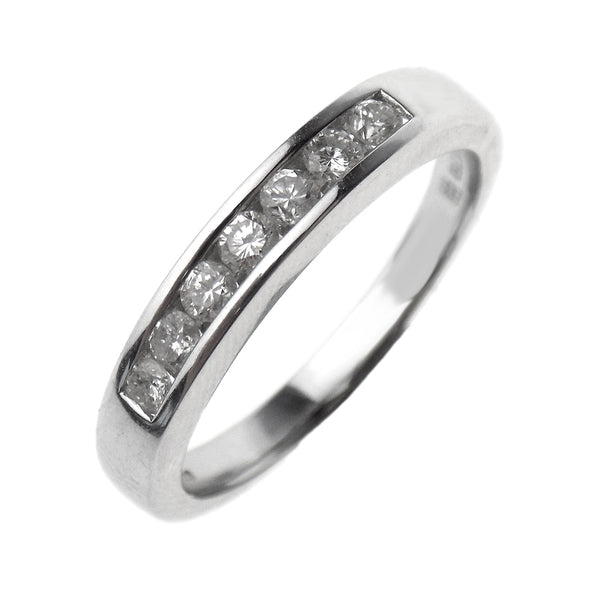 18ct White Gold Seven Stone Round Diamond Eternity Ring 0.31ct