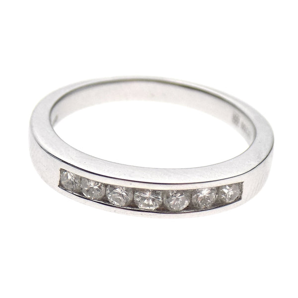 18ct White Gold Seven Stone Round Diamond Eternity Ring 0.31ct - Stone Detail