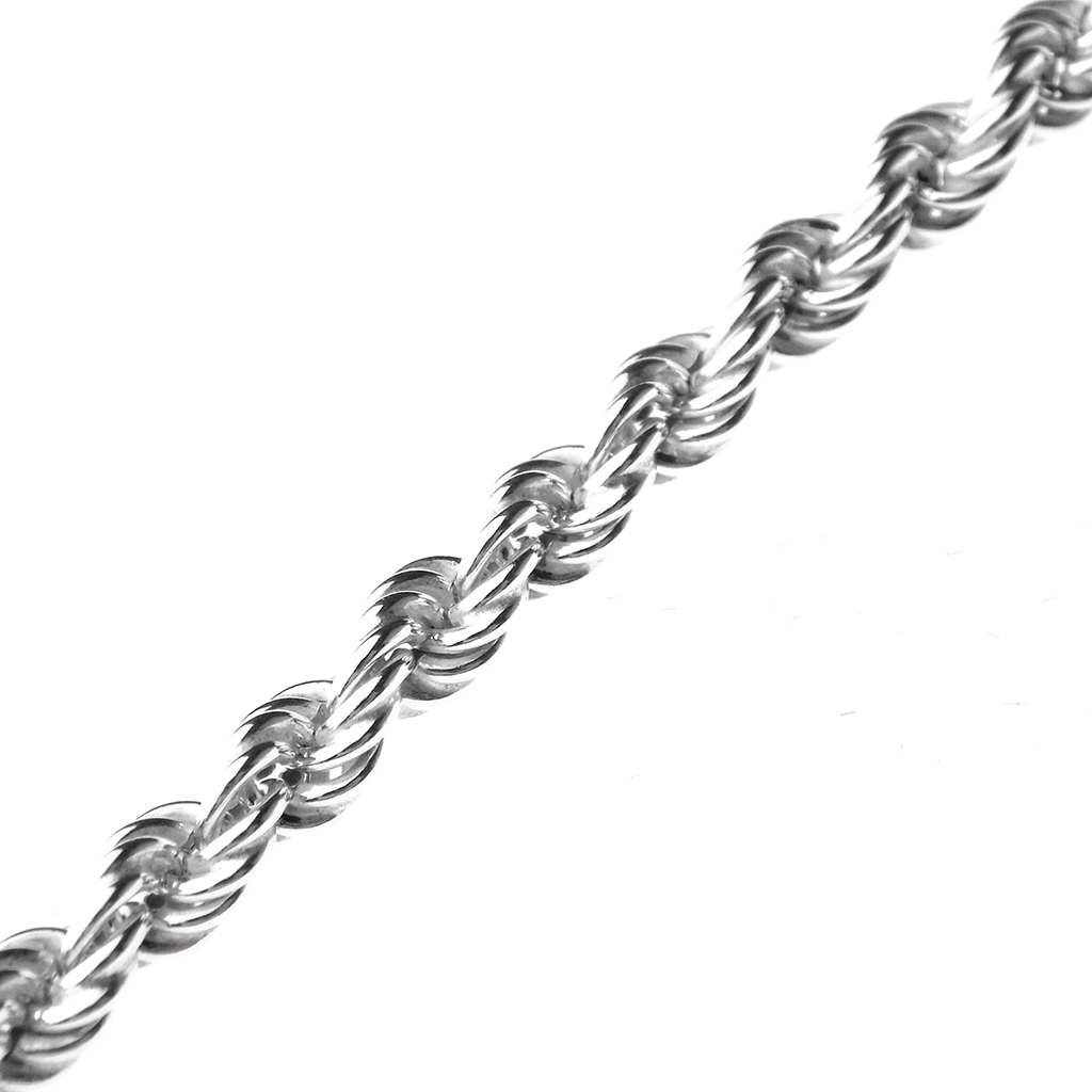 "Sterling Silver 18"" Hollow Rope Chain"