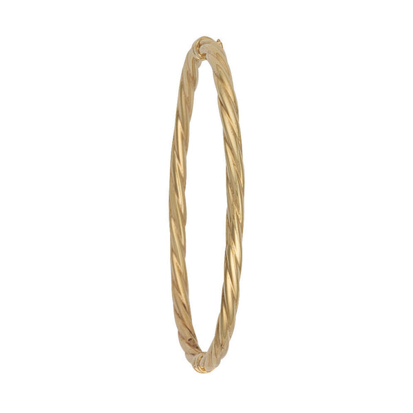 9ct Yellow Gold Twisted Hollow Bangle