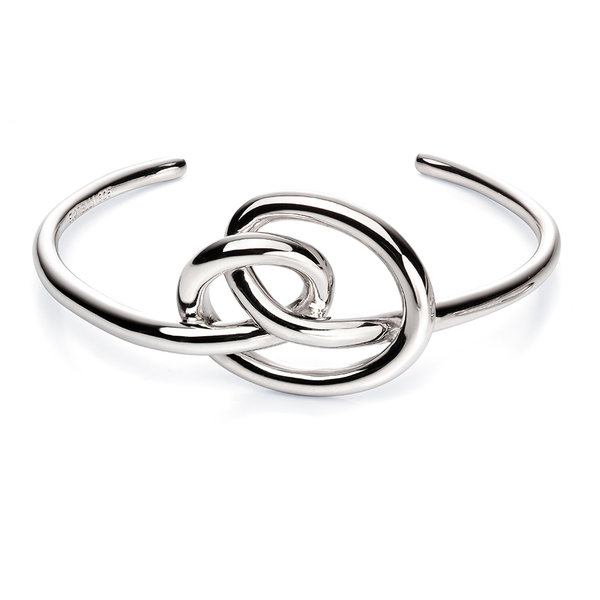 'Fiorelli' Sterling Silver Large Knot Bangle