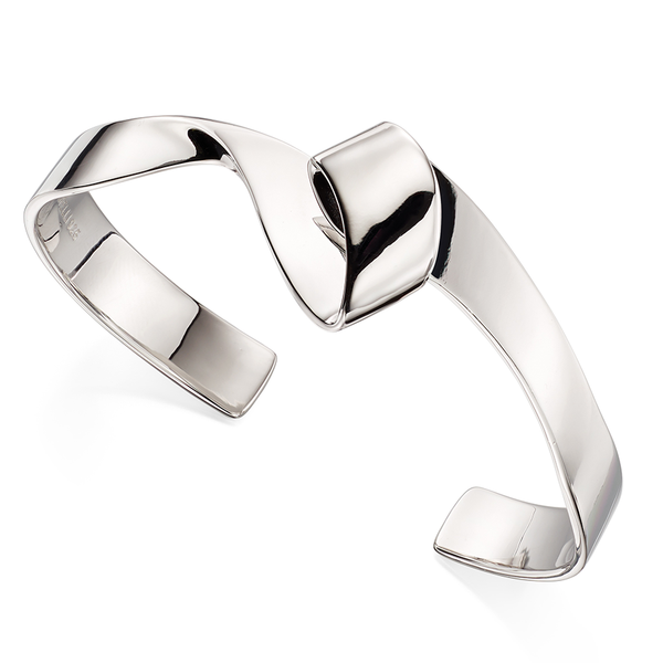 'Fiorelli' Sterling Silver Twisted Ribbon Bangle