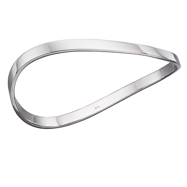 'Fiorelli' Sterling Silver Wave Bangle
