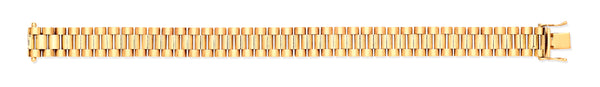 9ct Yellow Gold Fancy Link Gents Bracelet
