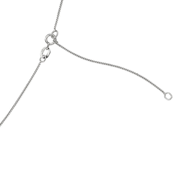 "'Elements' 9ct White Gold Diamond Cut 16"" Curb Chain with Extension Fastening Detail"