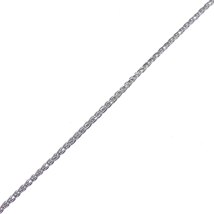"9ct White Gold 20"" Spiga Link Chain"