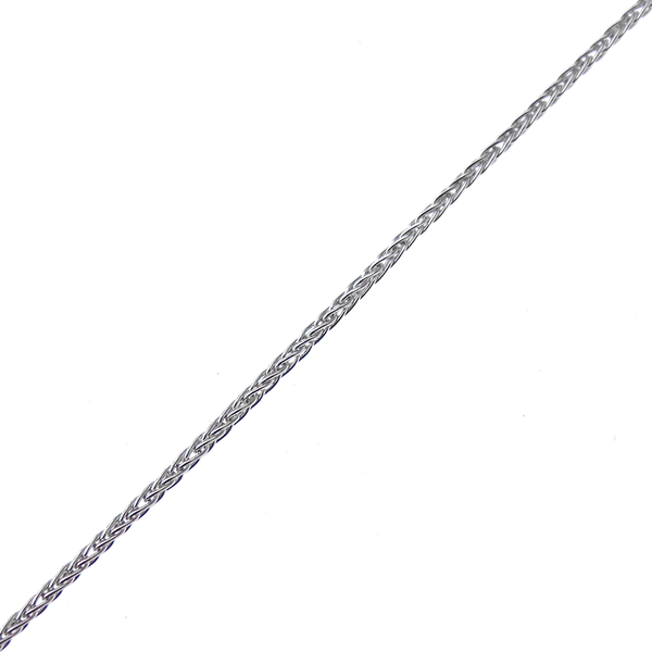 "9ct White Gold 18"" Spiga Link Chain"