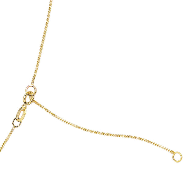 "'Elements' 9ct Yellow Gold Diamond Cut 16"" Curb Chain with Extension Fastening Detail"