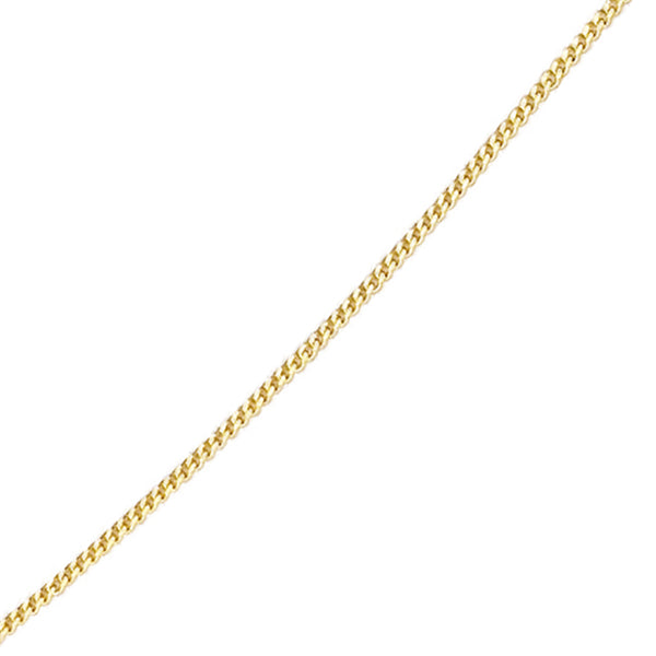 "'Elements' 9ct Yellow Gold Diamond Cut 16"" Curb Chain with Extension"