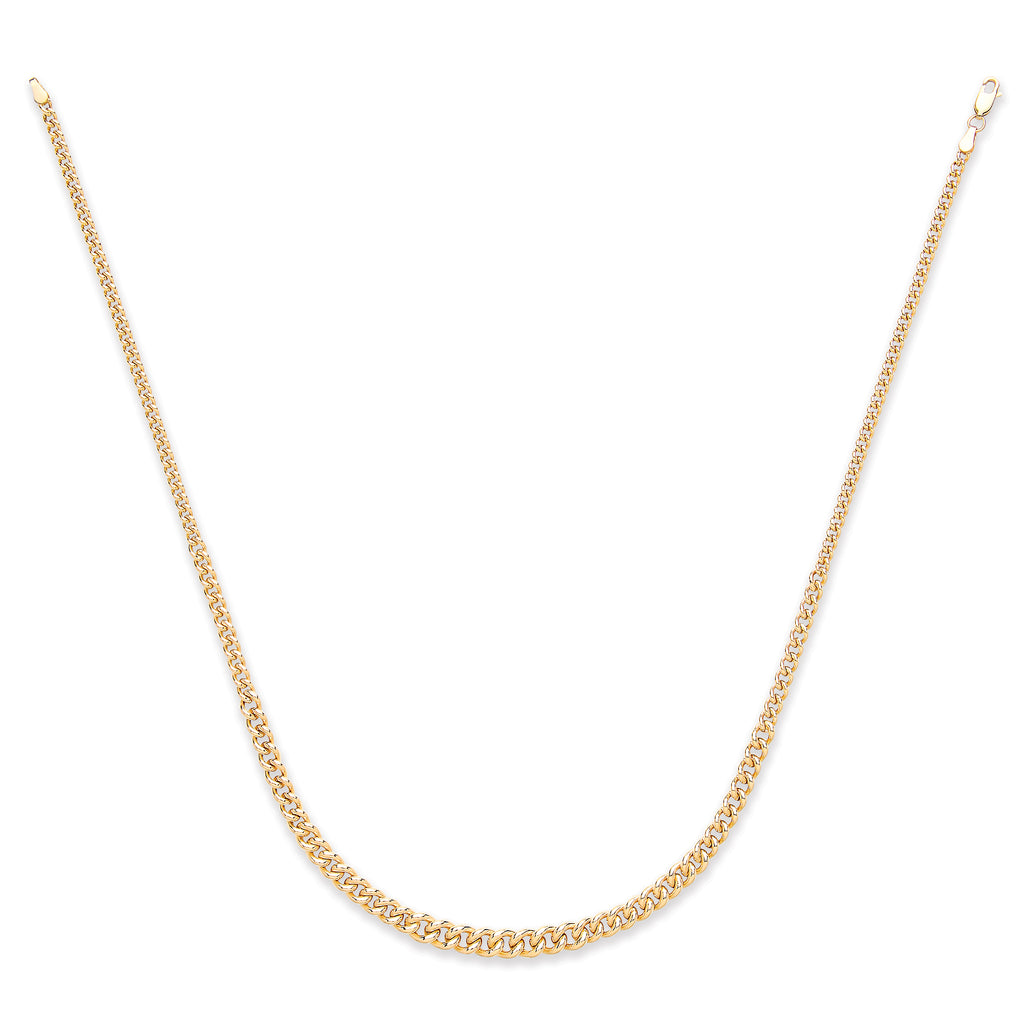 "9ct Yellow Gold 18"" Flat Open Curb Link Chain"