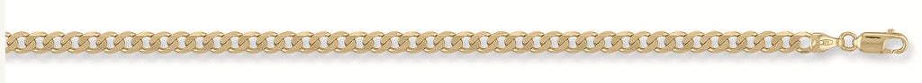 "9ct Yellow Gold 22"" Tight Curb Link Chain"