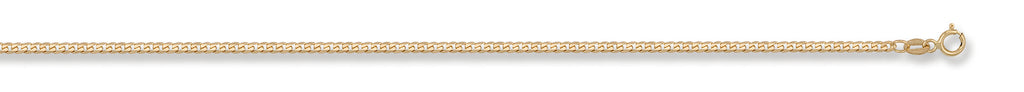 "9ct Yellow Gold 20"" Tight Curb Link Chain"