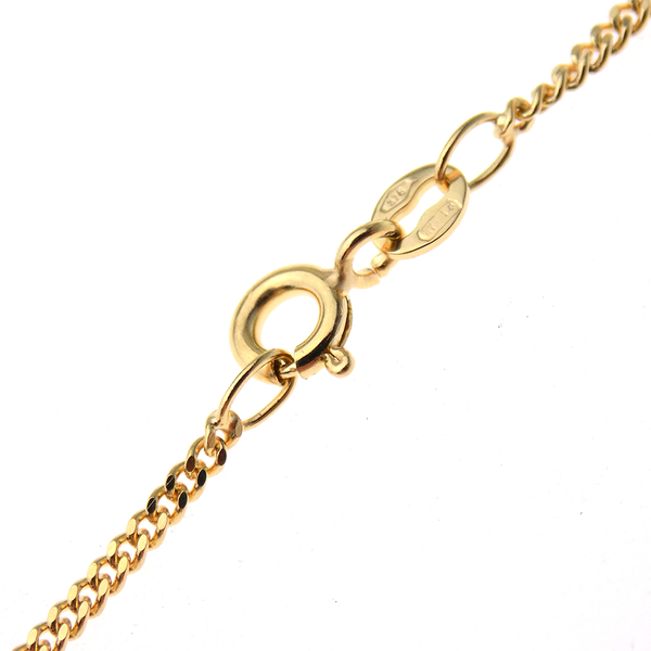 "9ct Yellow Gold 16"" Tight Curb Link Chain Fastening"