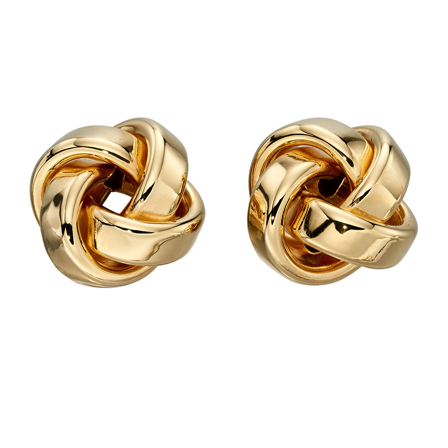 'Elements' 9ct Yellow Gold Knot Stud Earrings
