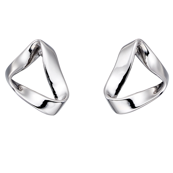'Fiorelli' Sterling Silver Open Fold Stud Earrings