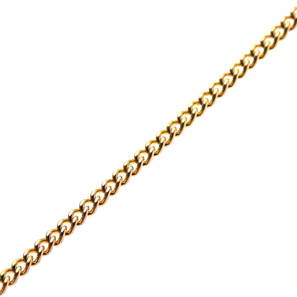 Pre-Loved 9ct Yellow Gold Single Diamond Pendant & Chain - Chain Detail