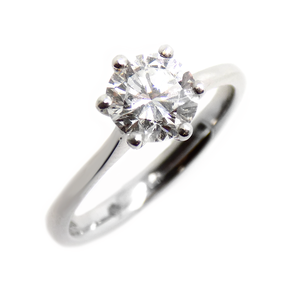 Pre-Loved 18ct White Gold Single Stone Diamond Ring