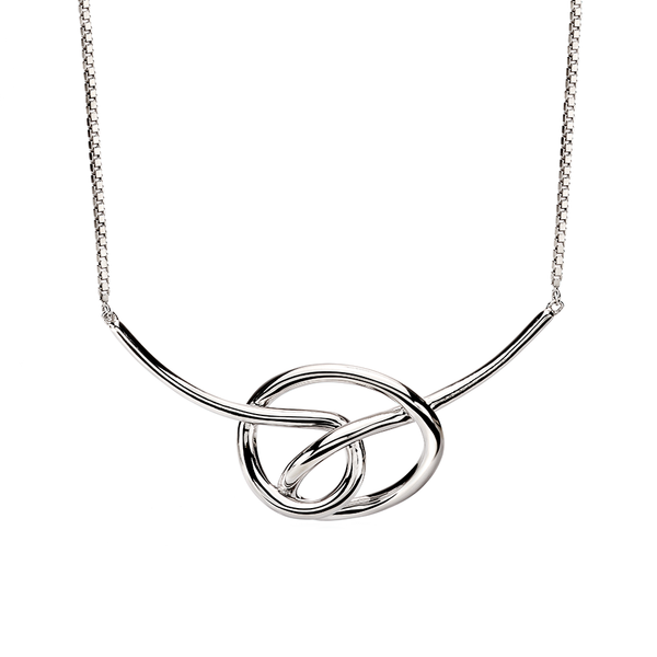 'Fiorelli' Sterling Silver Large Knot Necklace