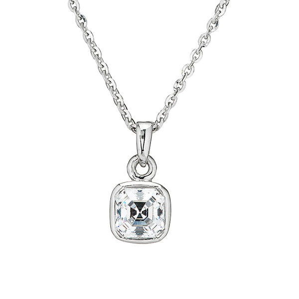 'Perfection' Sterling Silver & Swarovski Zirconia Imperial Mosaic Pendant & Chain